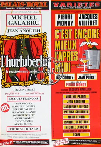 Affiches de th tre c 39 est encore mieux l 39 apr s midi de ray cooney th tre des vari t s 1987 - C est encore mieux l apres midi theatre ...
