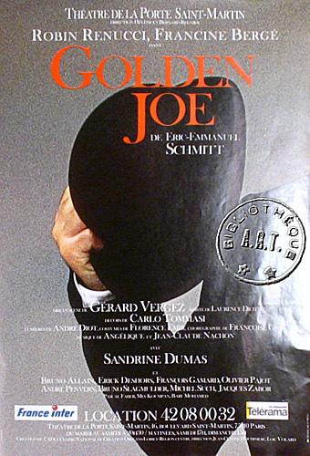 Affiches de th tre golden joe de ric emmanuel schmitt th tre de la porte saint martin 1995 - Theatre de la porte saint martin plan ...