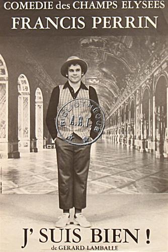 Affiches de th tre j 39 suis bien de g rard lamballe com die des champs lys es 1980 - Comedie des champs elysees ...