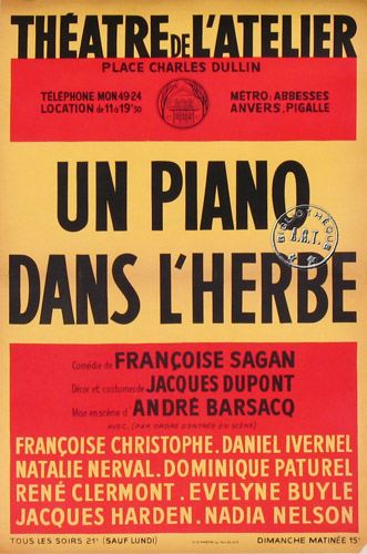 Th tre fran oise sagan la jeunesse qui s estompe - Un piano dans la theiere ...