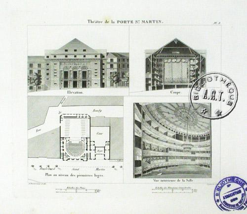 Archictecture de th tre architectonographie et eden th tre - Petit theatre de la porte saint martin ...