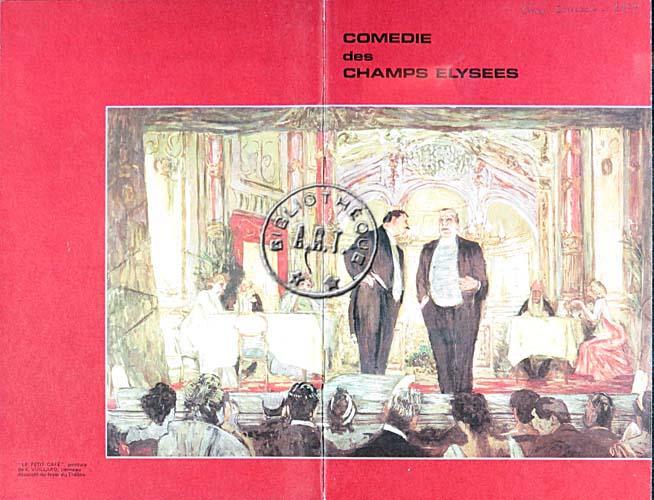 Programmes originaux de th tre chers zoiseaux de jean anouilh com die des champs lys es 1976 - Comedie des champs elysees ...