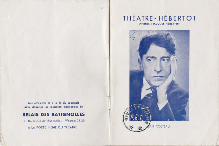 jean cocteau theatre essay Reviewing orpheus : essays on the cinema and art of jean cocteau responsibility  cinematic magic of jean cocteau / annette shandler levitt jean cocteau : word.