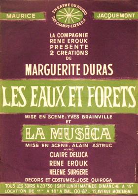Marguerite duras quelques pi ces for Eaux et forets