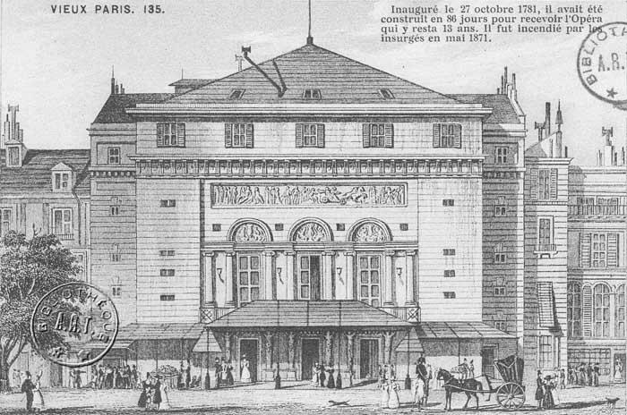 Histoire des th tres parisiens la restauration et la monarchie de juillet - Theatre porte saint martin ...